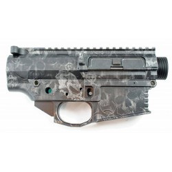 Black Rain Ordnance FALLOUT10 Billet 308 Lower / Upper Set - Silver Skulls - Anodized