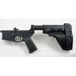Black Rain AR15 Complete Pistol Billet Lower w/ Sig SB15 Stabilizing Brace & Odin Works SB-PT