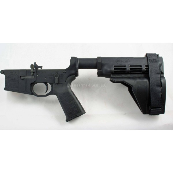 Black Rain Ordnance AR15 Billet Pistol Lower W/ SB15 Sig