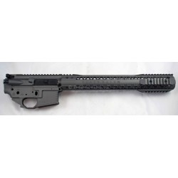 "Black Rain AR15 Billet Lower / Upper Set w/ 15"" Mod Rail - Tungsten Grey"