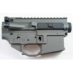 Black Rain FALLOUT15 AR15 Billet Lower / Upper Set - Tungsten Grey