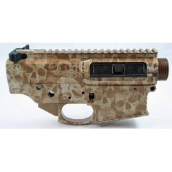 Black Rain Billet 308 Lower / Upper Set - Tan Anodized Skulls