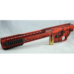 Black Rain Battleworn FALLOUT10 Billet 308 Lower / Upper Set - Orange/Black