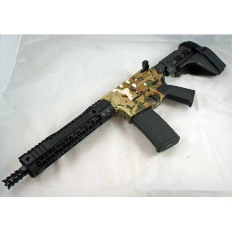 "Black Rain 10.5"" 300 Blackout AR15 Multicam Pistol w/ SB15 Pistol Brace"