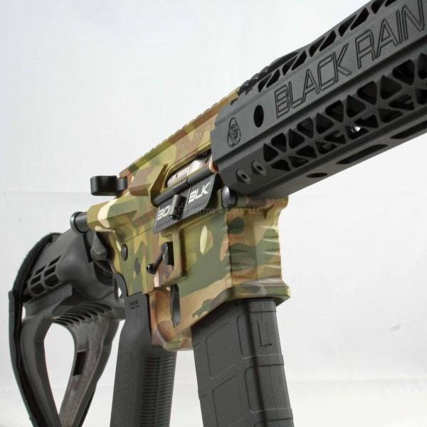 "Black Rain 10.5"" 300 BLK AR15 Multicam Pistol W/ SB15"