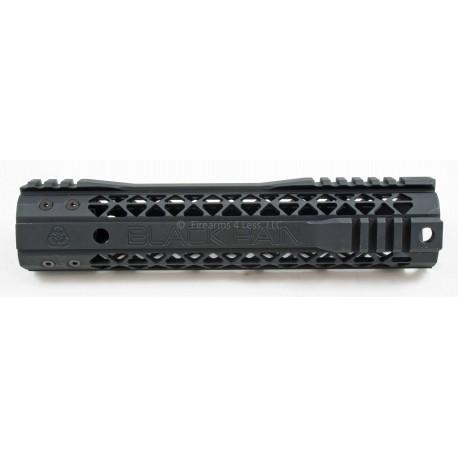 """Black Rain Hybrid Modular M Lok Rail AR15 10"""" - Black"""