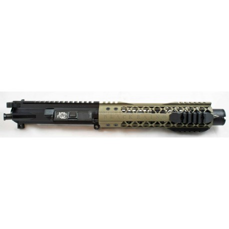 """Black Rain AR15 7.5"""" Complete Billet 223 SBR / Pistol Upper FDE"""
