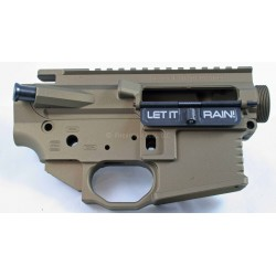 Black Rain 458 SOCOM AR15 upper/lower billet set - burnt bronze