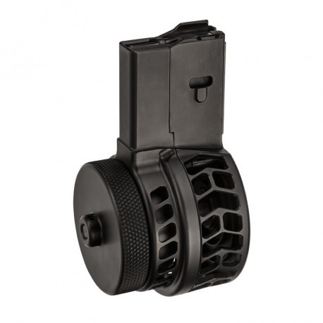 X Products X-15 Skeletonized Chevron 50 Round Drum Magazine for AR15 / M16