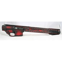 Black Rain Battleworn FALLOUT10 Billet 308 Lower / Upper Set - Red / Black