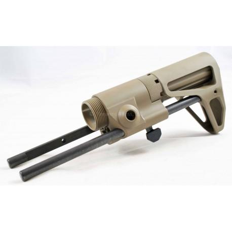 Maxim Defense CQB FDE Stock for AR15 w/ JP Silent Captured Spring