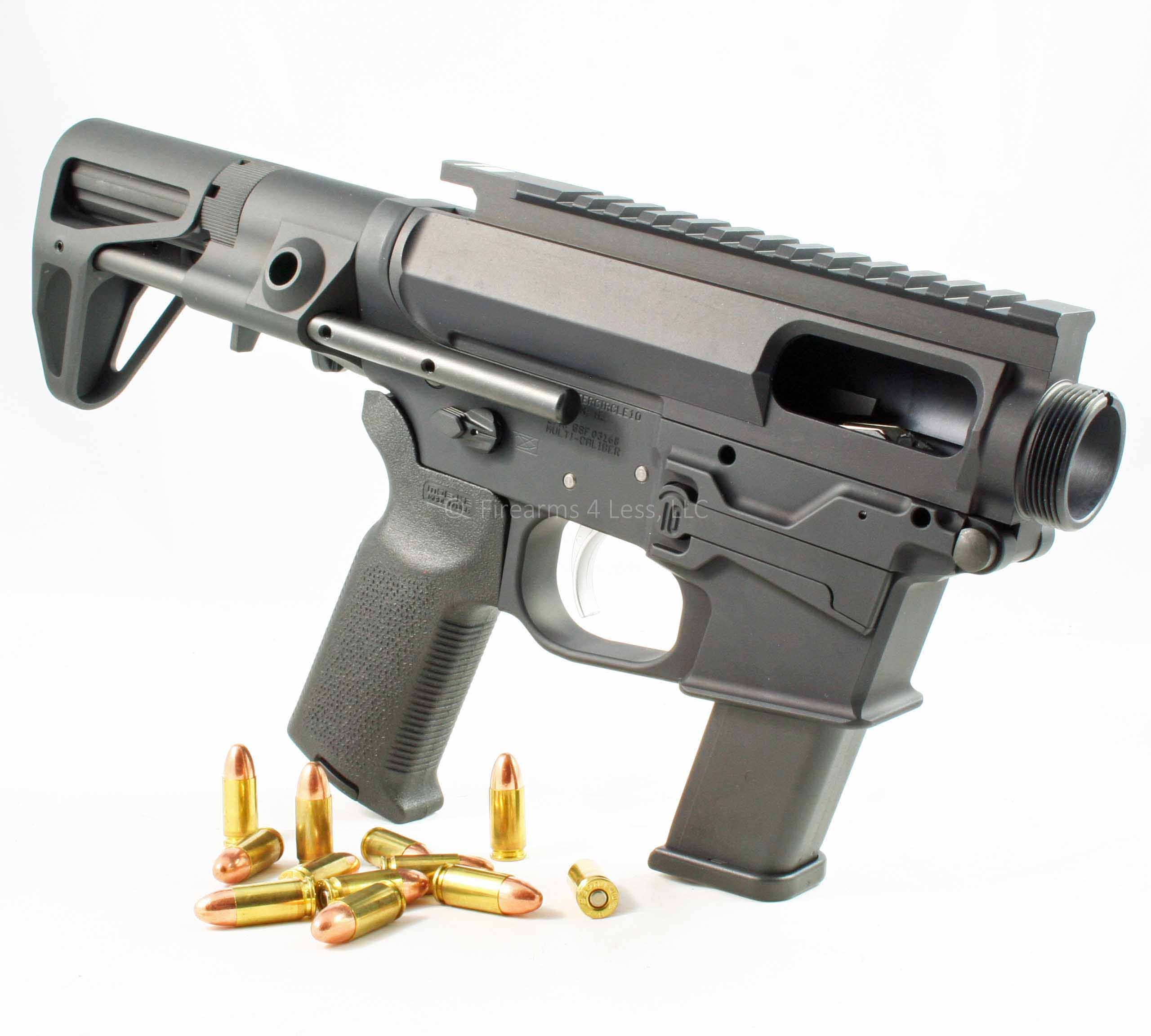 Quarter Circle 10 GSF 9mm Complete AR15 Lower/Upper w