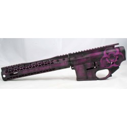 "Black Rain Plum Crazy AR15 Billet Lower / Upper Set w/ 10"" Slim Rail - Purple & Black"