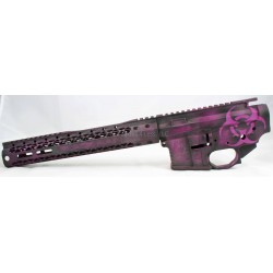 "Black Rain Plum Crazy AR15 Billet Lower / Upper Set - Purple & Black 12"" Rail"