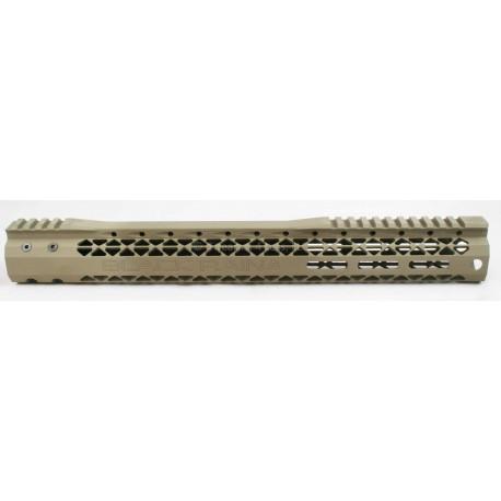 """Black Rain Slim M-LOK AR15 Rail 15"""" - FDE"""