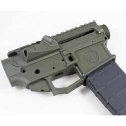 Shreveport Tactical G1-15 Billet AR15 Lower Upper Receiver Set - OD Green