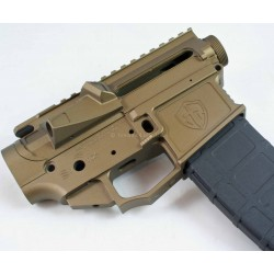 Shreveport Tactical G1-15 Billet AR15 Lower Upper Receiver Set - Burnt Bronze