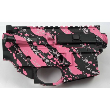 FALLOUT15 Billet Lower / Upper Set - Pink Splash