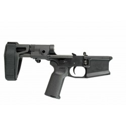 SMOS GFY-15 Complete Billet AR15 Lower w/ Maxim Pistol Brace