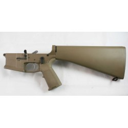 SMOS GFY-15 Complete Billet AR15 Lower w/ A2 Stock - FDE