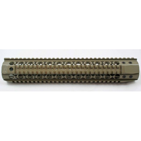 "Black Rain Ordnance Quad Rail - Rifle Length (12"") - FDE"
