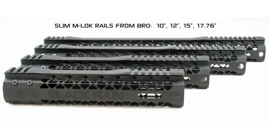 Black Rain Slim M-LOK AR15 Rails