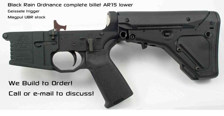 Black Rain Complete AR15 Lower w/ Geissele Trigger