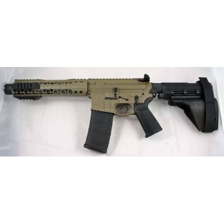 "Black Rain 7.5"" 5.56 AR15 Pistol FDE with Sig Sauer SB15 Pistol Brace and Noveske KX3 Pig"