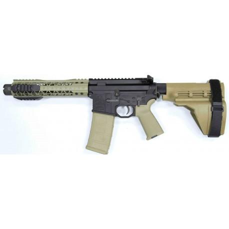 "Black Rain 7.5"" 5.56 AR15 Pistol with FDE Sig Sauer SB15 Pistol Brace and Noveske KX3 Pig"