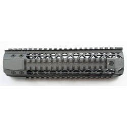 "Black Rain Quad Rail - Mid Length (9"") - Tungsten Grey"