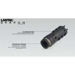 LANTAC Dragon 9mm Muzzle Brake 1/2x36