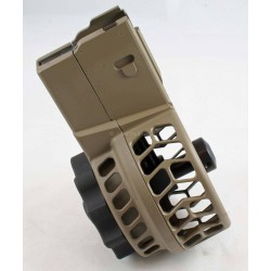 X Products X-25 50 Round Drum Skeletonized Magazine for AR 308 & SR-25 FDE - FREE SHIP