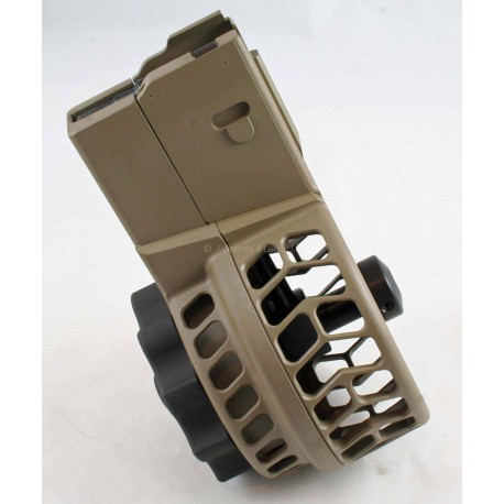 X Products X-25 50 Round Drum Skeltonized Magazine for AR 308 & SR-25 FDE - FREE SHIP