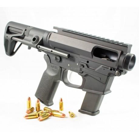 Quarter Circle 10 9mm Complete AR15 Lower / Upper Set w/ Maxim CQB - Glock Pattern
