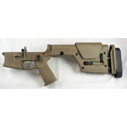 SMOS GFY-15 Complete Billet AR15 Lower w/ PRS Stock - FDE