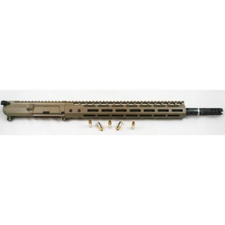 """SMOS / BSF Barrels 16"""" Carbon Fiber 9mm FDE AR15 Upper w/ Lantac Dragon"""