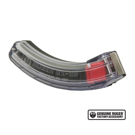 Ruger BX-25 10/22 77/22 RPR 25 Rd Magazine - Clear 90591
