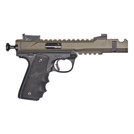 """Volquartsen Black Mamba 22LR OD Green 4.5"""" LLV Target Pistol - VF4M-032"""