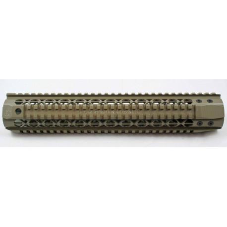 """Black Rain Ordnance Quad Rail - Rifle Length (12"""") - FDE"""